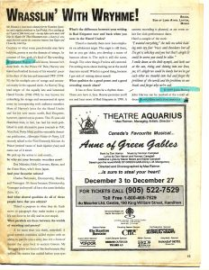 Article: Harvey Dog - 1997-Dec - Wrasslin' With Wryhme