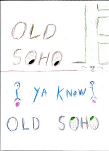 Old Soho - Drawing by Harvey Dog
