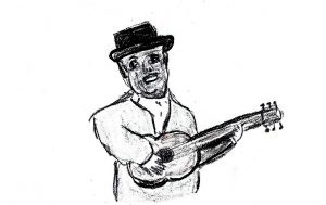 Big Bill Broonzy #1 - drawing by Harvey Dog 2019