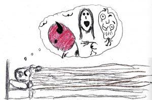 Haunted Dreams - drawing by Harvey Dog 2019