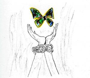 Freedom - drawing by Harvey Dog 2020