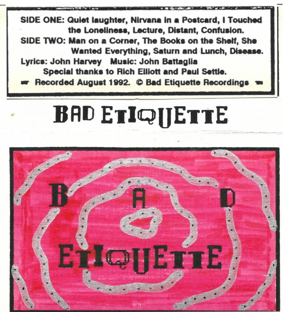 Bad Etiquette cassette cover