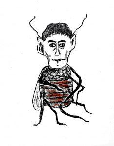 Mr. Kafka - drawing by Harvey Dog 2020