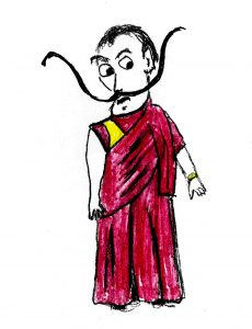 Sally Dali Lama - drawing by Harvey Dog 2020,