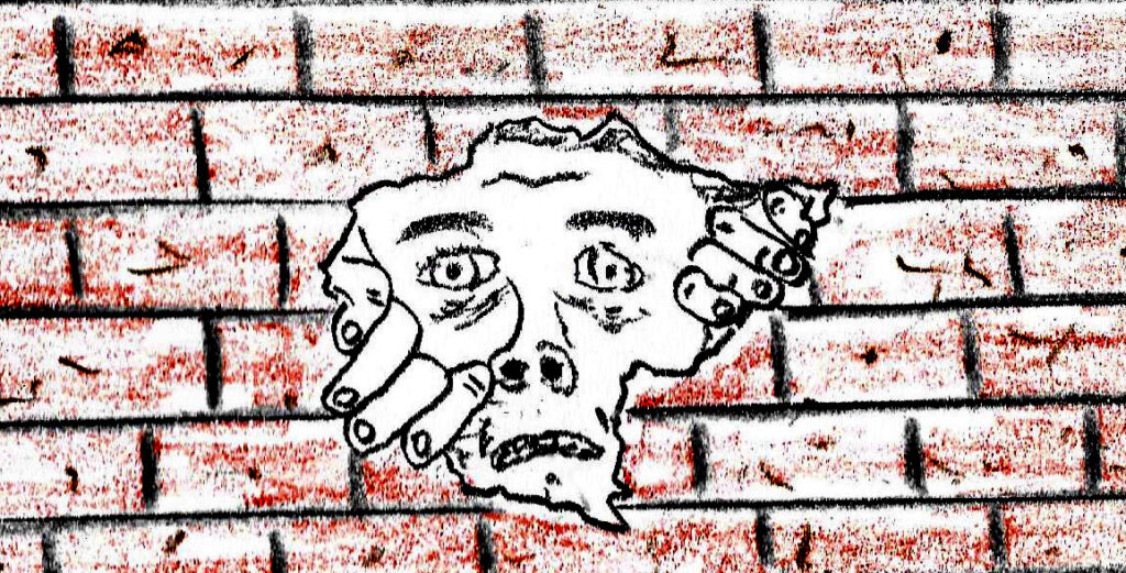Walls - drawing by Harvey Dog 2021
