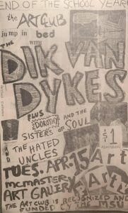 Poster for 1985-04-15 Dik Van Dykes / Dorothy & the Sisters of Soul / Hated Uncles