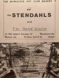 Poster for 1989-04-14 Stendahls / Hated Uncles show